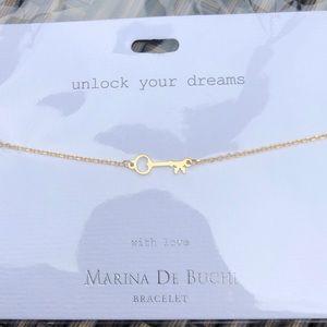 Gold key bracelet